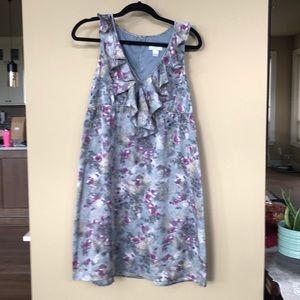 Ann Taylor loft sleeveless ruffle dress